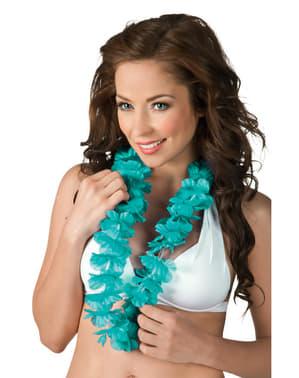 Collana hawaiana azzurra per adulto