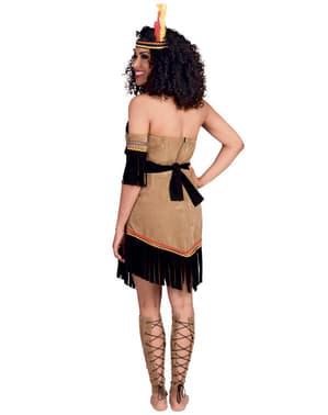 Squaw indiaan kostuum voor vrouw