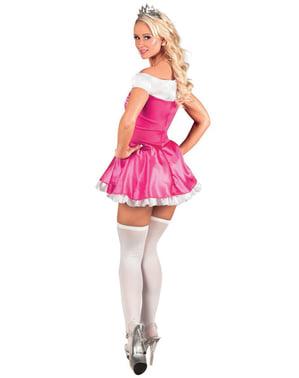 Maskeraddräkt prinsessa rosa dam