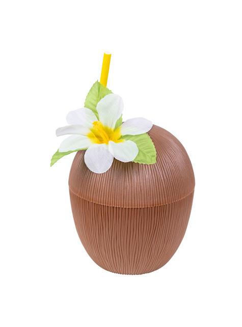 Кокосовая чашка и соломенный набор