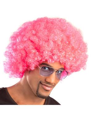 Afro Perücke rosa unisex