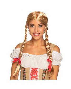 Перука блондинки з косами для жінок