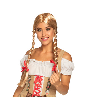 Peluca Heidi rubia para mujer