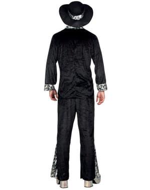 Pimp Kostüm schwarz für Herren
