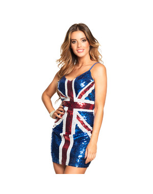 Robe drapeau UK femme