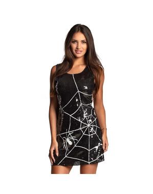 Woman's Sequinned Cobweb Dress