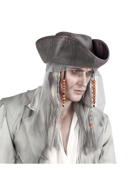 大人のための帽子と幽霊海賊ウィッグ