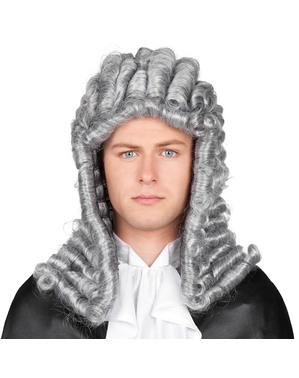 Peluca gris de juez para hombre