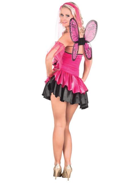 Disfraz de hada rosa sexy para mujer