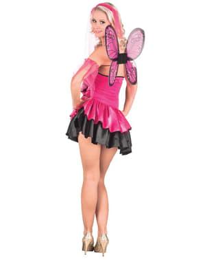 Roze fee kostuum voor vrouw