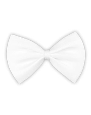 Adult's White Bowtie