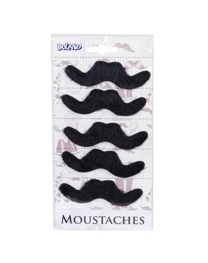 Zestaw 6 wąsów meksykańskich dla mężczyzny