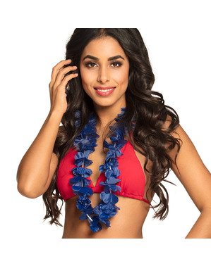 Blå hawaiihalskæde til voksne