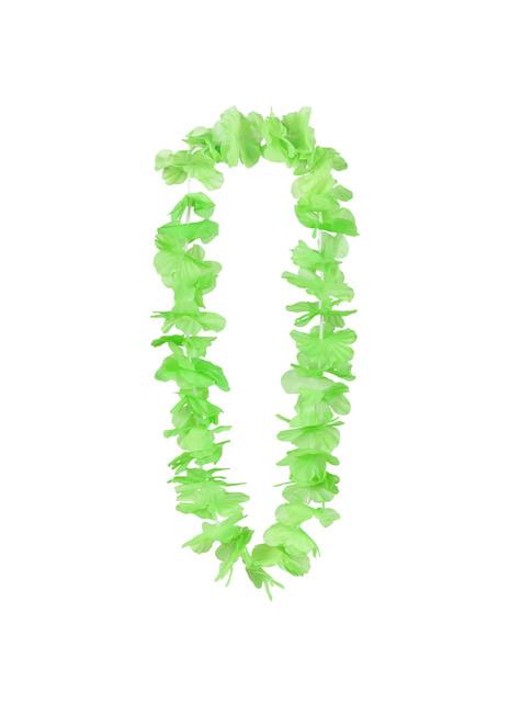 Collar hawaiano verde para adulto