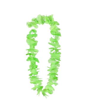 Collana hawaiana verde per adulto