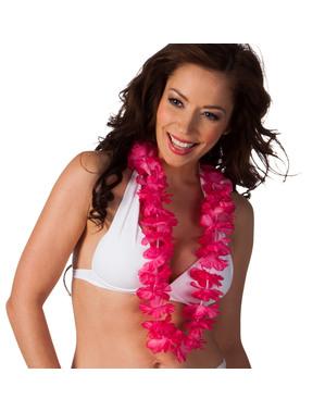 Collana hawaiana rosa per adulto