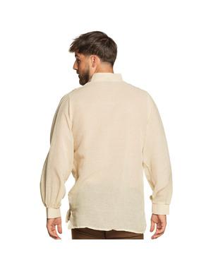 Koszula średniowieczny wieśniak biała męska