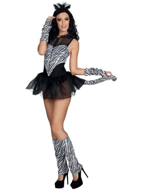 Disfraz de cebra sugerente para mujer
