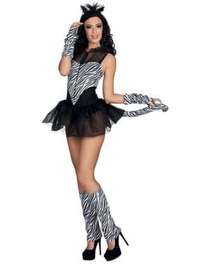 Suggestief zebra kostuum voor vrouw