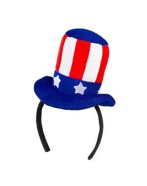 Mini chapeau Oncle Sam femme