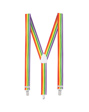 Suspensórios de arco-íris para adulto