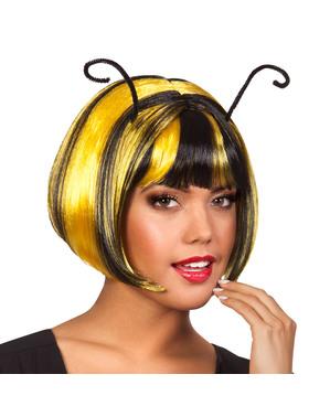Peluca de abeja con antenas para mujer