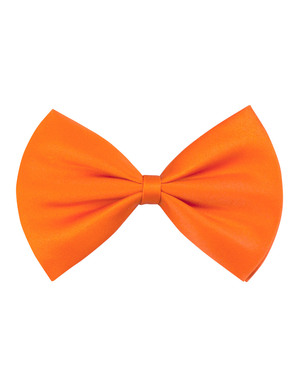Orange bow tie for adults