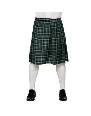 Gonna scozzese verde per uomo