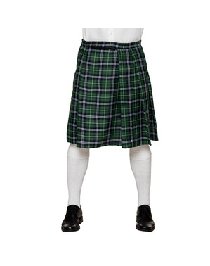 Green Scottish skirt for men