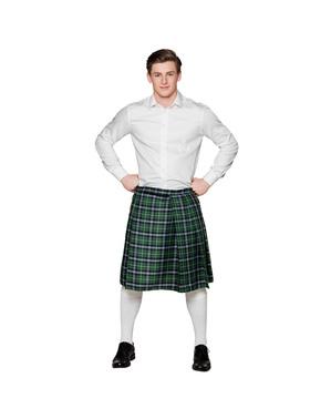 Falda escocesa verde para hombre