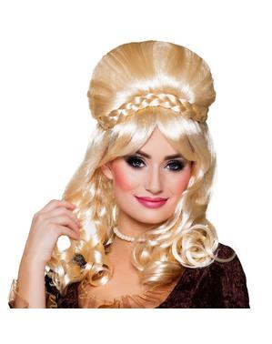Peluca rubia Victoriana para mujer