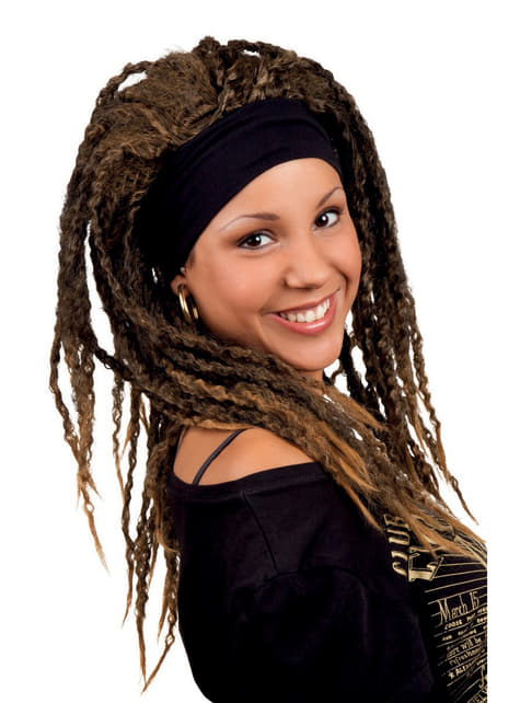 Woman's Brown Wig with Dreadlocks
