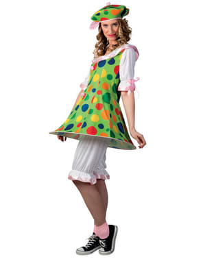 Disfraz de payasita con vestido para mujer