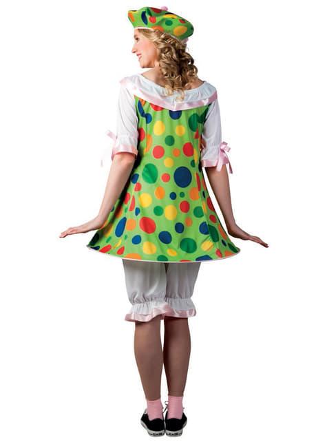 Disfraz de payasita con vestido para mujer - mujer