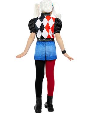 Dievčenský kostým Harley Quinn