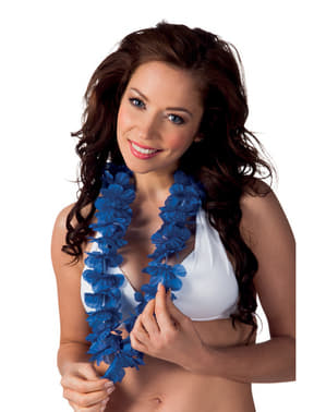 Collana hawaiana blu per adulto