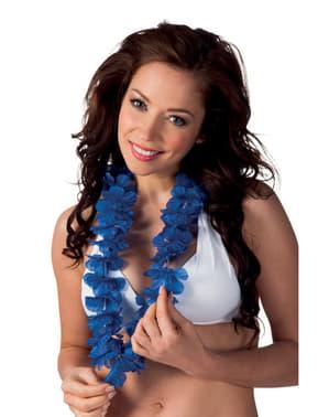 Collier hawaïen bleu adulte