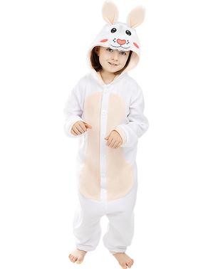 Fato de coelho onesie para menino