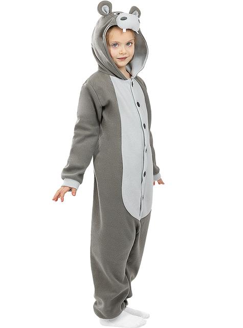 Onesie nijlpaarden kostuum voor kinderen