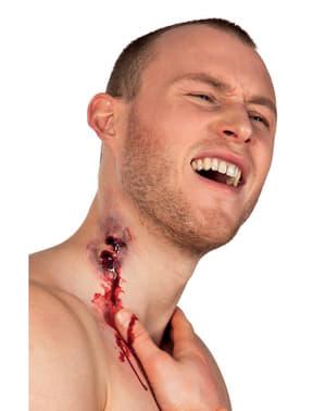 Prótesis de látex mordida de vampiro