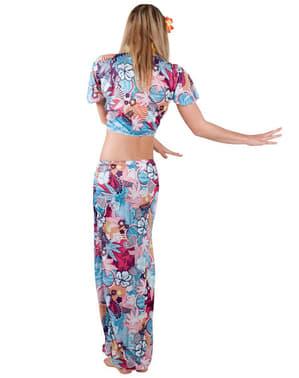 Disfraz de belleza hawaiana para mujer