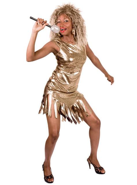 Disfraz de Tina reina del rock para mujer