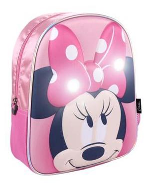 Mochila de Minnie Mouse com luzes para menina