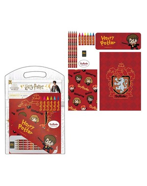 Materiały biurowe zestaw Gryffindor dla dzieci - Harry Potter