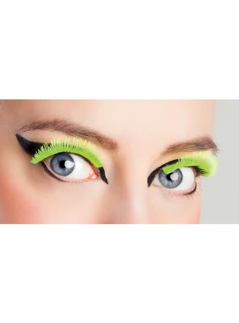 Faux-cils jaunes fluorescents femme