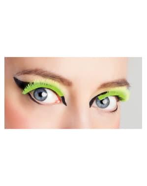 Woman's Fluorescent Yellow Eyelashes