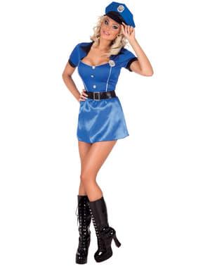 Sexy Polizei Kostüm mit Mütze für Damen