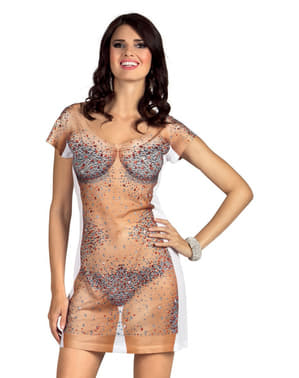 Brillianter på huden kjole til kvinder