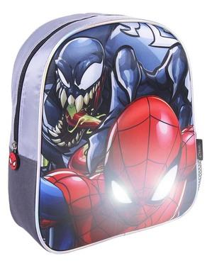 Spiderman Valaistu Reppu Pojille