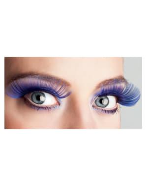 Blaue lange Wimpern für Damen